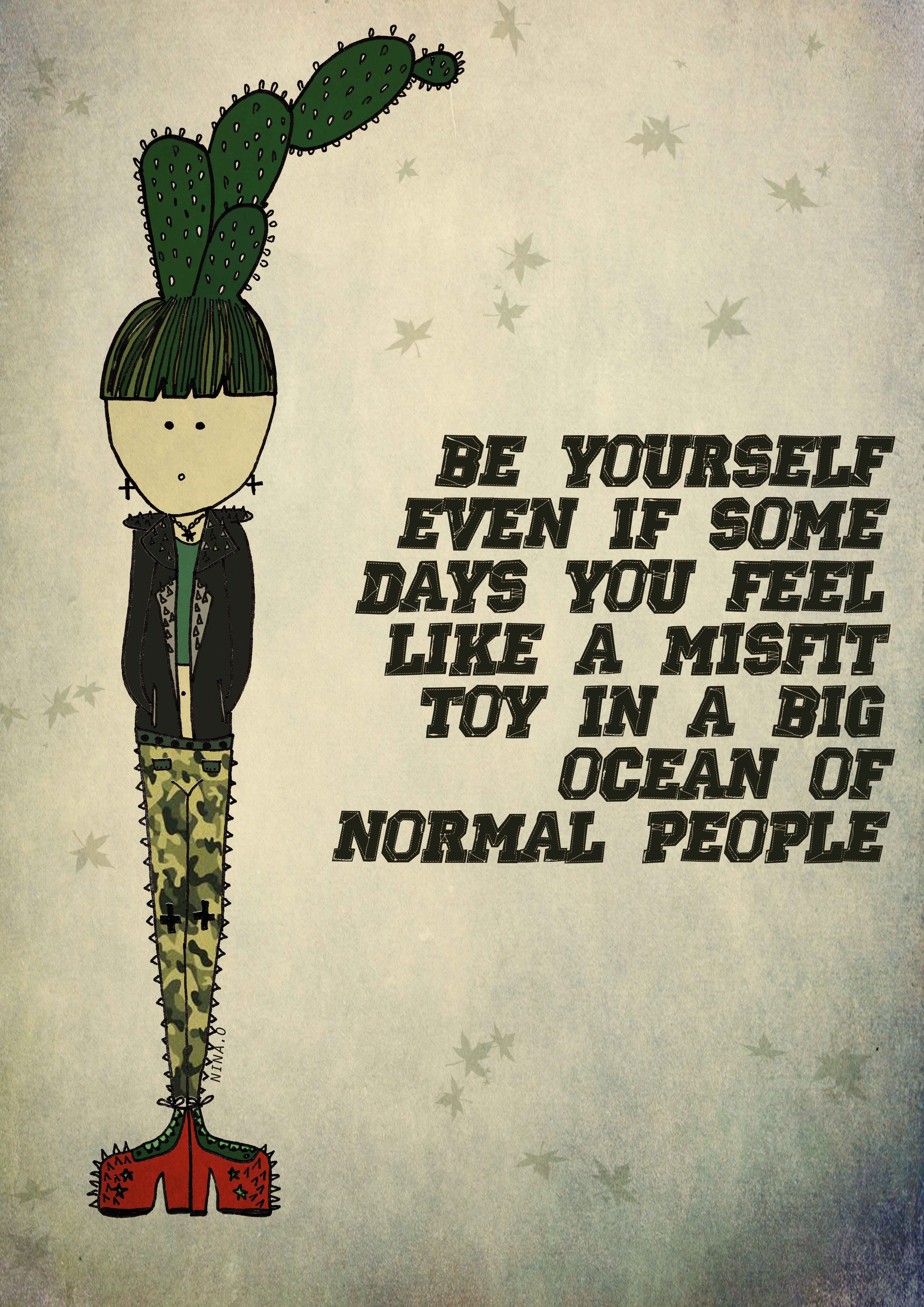 perks of being yourself Even though everyone tells me to be myself, and i know that i should, there is still  that pressure of wanting to be liked so, a personal conflicts.